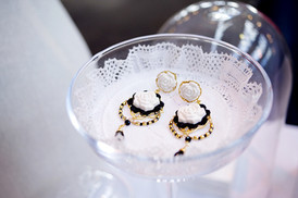 Classic Rose Statement Earrings; we handmade every detail.