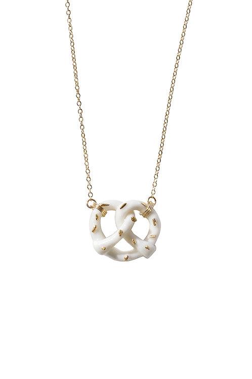 Mini Porcelain Pretzel Necklace