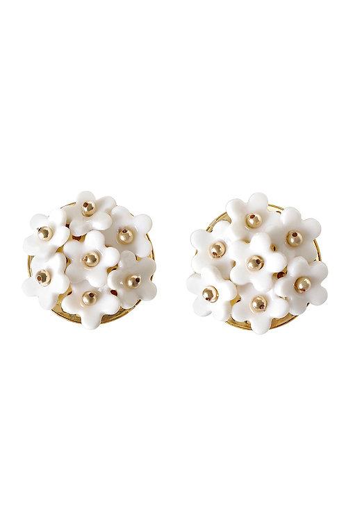 Mini Daisy Cluster Clip Earrings