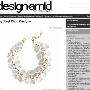 25 Oct 2018 Award winning collection SNOW WHITE got featured in DesignAmid Magazine