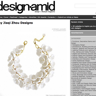 25 Oct 2018 Award winning collection SNOW WHITE got featured in DesignAmid Magazine