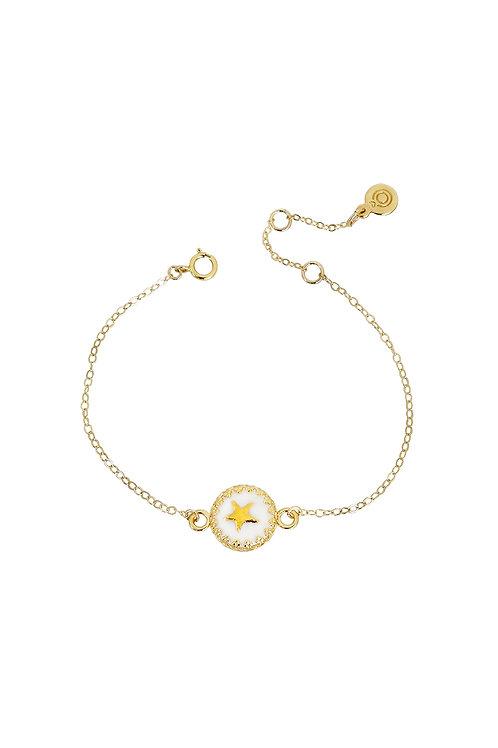 Porcelain Star Charm Bracelet