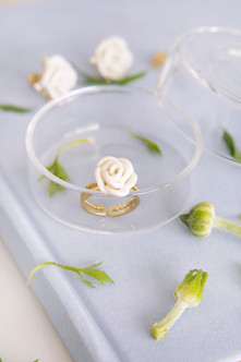 White Cloud Rose Ring