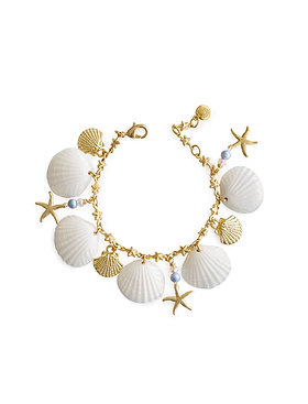 Little Mermaid Porcelain Seashell Bracelet