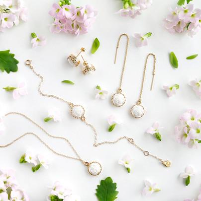 Mini Porcelain Rose Gold Filled collection