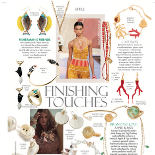 Clam Shell Earrings on Red magazine UK