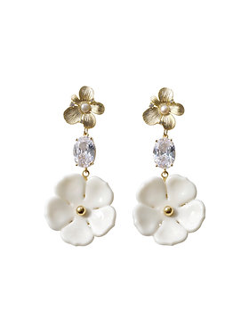 Crystal Floral Bloom Statement Earrings
