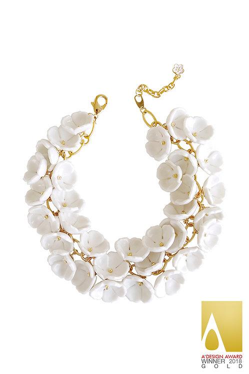 Porcelain Plum Blossom Cluster Necklace