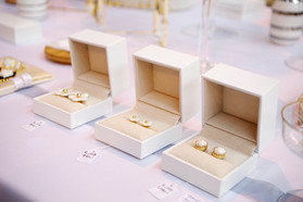 Small porcelain stud earrings, perfect as a gift for her.