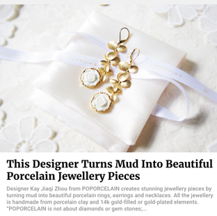 This Designer Turns Mud Into Beautiful Porcelain Jewellery Pieces // Feb.2017