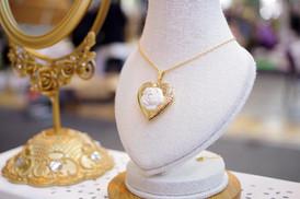 Classic Rose Heart Locket Pendant Necklace