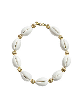 Porcelain Cowrie Shell Collar Necklace