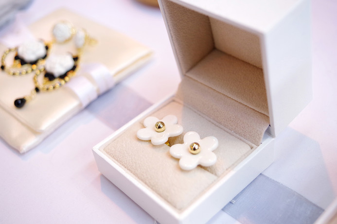 Our new design, Everyday Daisy Stud Earrings, in Gold-filled and gold-plated silver elements.