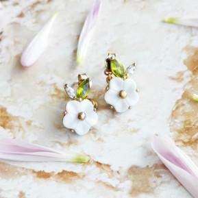 Mini Strawberry Flower Studs