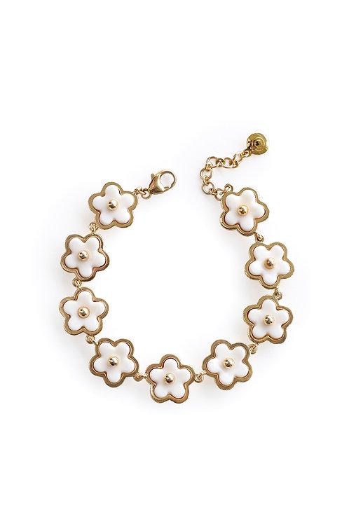 Mini Porcelain Daisy Cluster Bracelet