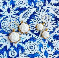 Don't feel like to be too ' #statement '? We have something #petite for you 💛 . 💛Porcelain Camellia Flower Charm Earrings💛