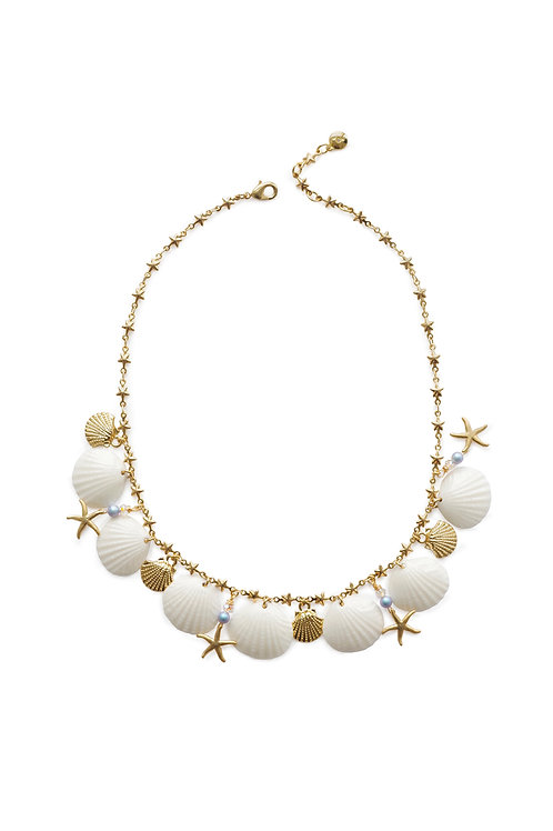 Little Mermaid Porcelain Seashell Necklace