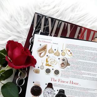 🌹 Golden White Cloud Rose Ring is featured on VANITY FAIR @vanityfairuk 🌟 Hollywood issue💃The Glitterati ♥
