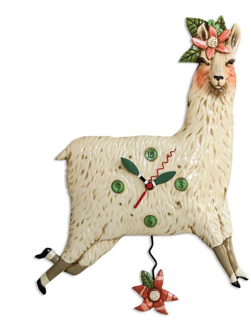 Allen Design Clock - Llama