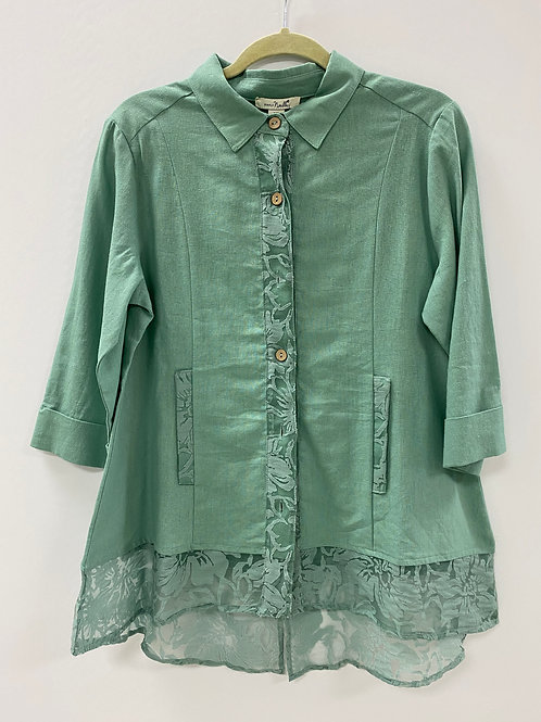 Simply Noelle Lace Top - Green