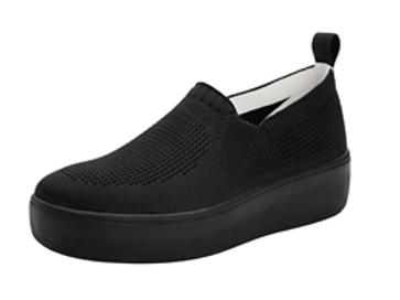Qaravan - Black slip on tennis shoe
