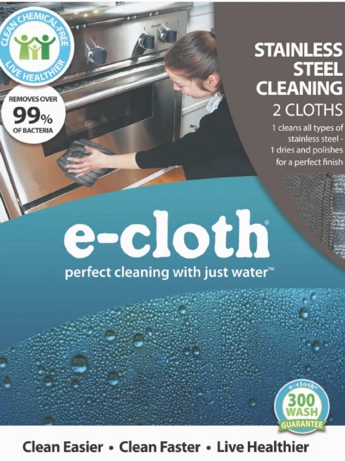 e-Cloth - Stainless Steel 2 cloths