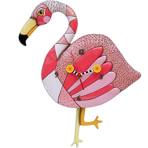 Allen Design Clock - Flamingo