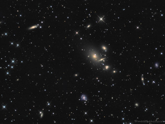 Abell 262 galaxy cluster in Andromeda