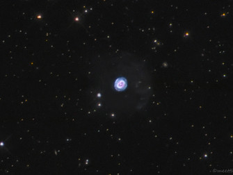 NGC 7662 in Andromeda (Blue Snowball)