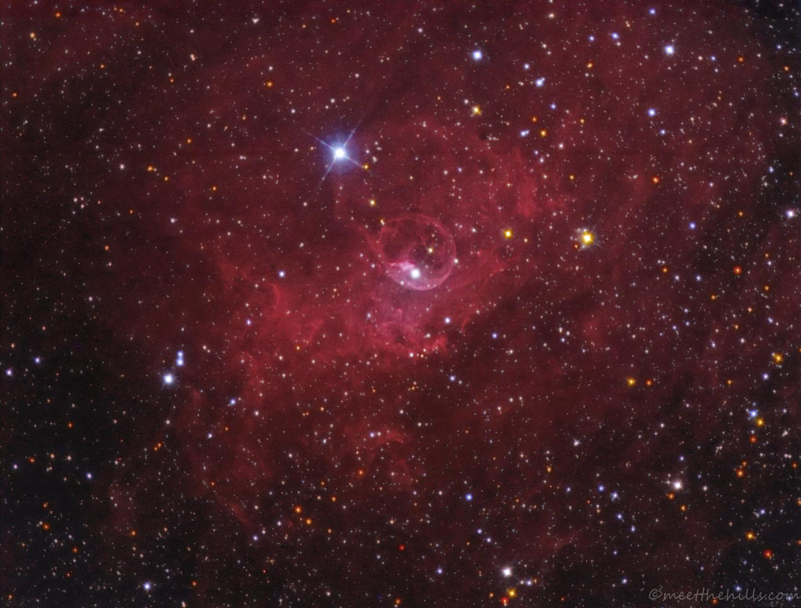 NGC7635 - Bubble nebula in Cas