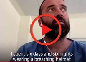 """I spent six days and six nights wearing a breathing helmet"" said COVID-19 patient in Italy"
