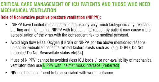 Critical Care Management of ICU Patients and Those Who Need Mechanical Ventilation