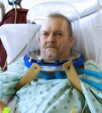 Patients Who Use Helmet Ventilation Can Breathe Better, Recover Faster and Avoid Intubation.