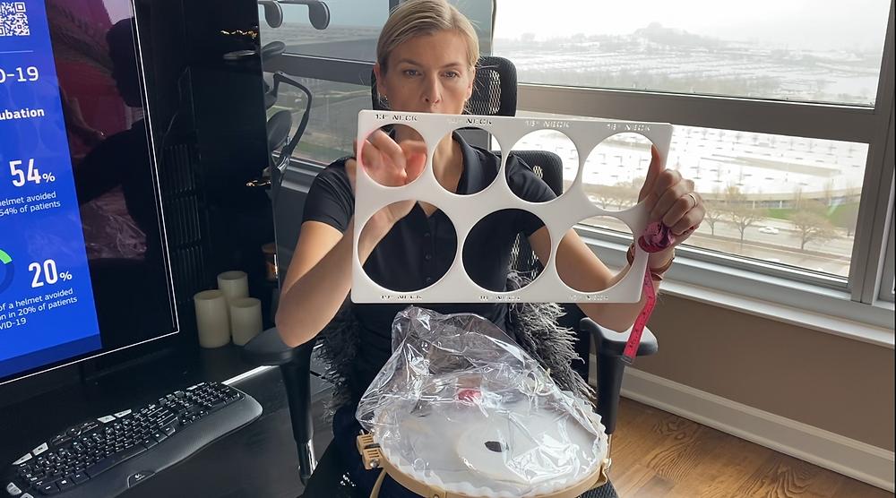 Non-invasive Ventilator Helmet EXTOL COVID