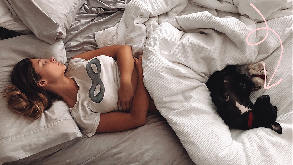 Sleeping with puppy