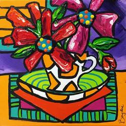 gerberas-in-teacup-painting-brydie-perki
