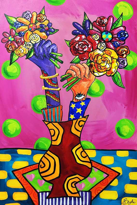 surrealist-roses-gerbera-painting-brydie