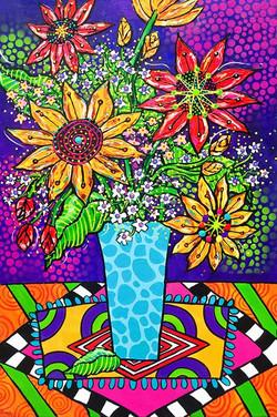 sunflowers-psychedelic-painting-brydie-p