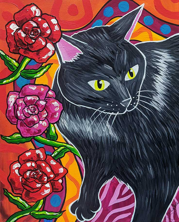 black-cat-with-roses-painting-brydie-per