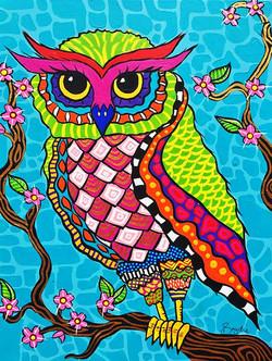 colourful-owl-painting-brydie-perkins-br