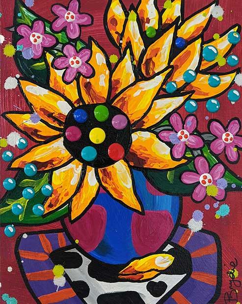 sunflower-cow-print-painting-brydie-perk