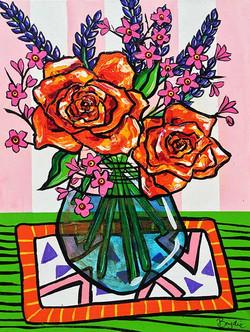 orange-roses-lavender-painting-brydie-pe