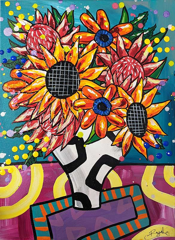 pink-protea-sunflower-painting-brydie-pe