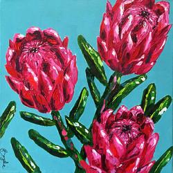 pink-protea-painting-brydie-perkins-brak