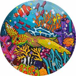 Sea-turtle-in-reef-painting-brydie-perki
