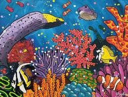 australian-reef-painting-moray-eel-brydi