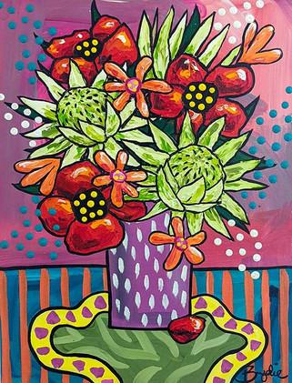 king-protea-poppies-painting-brydie-perk