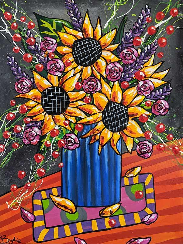 sunflowers-vintage-glass-vase-painting-b