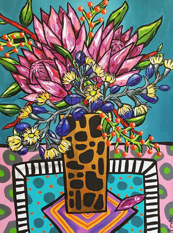 pink-protea-eucalyptus-painting-brydie-p