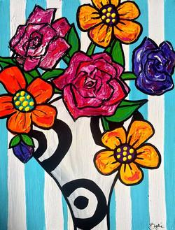 gerberas-roses-abstract-painting-brydie-
